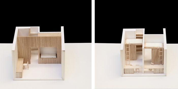 maquette logement etudiants architecte