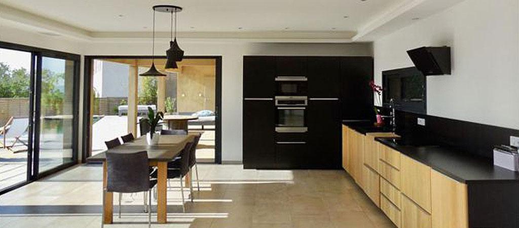 cuisine sejour maison architecte