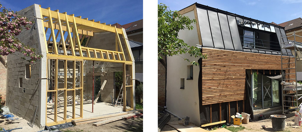 travaux construction duplex architecte
