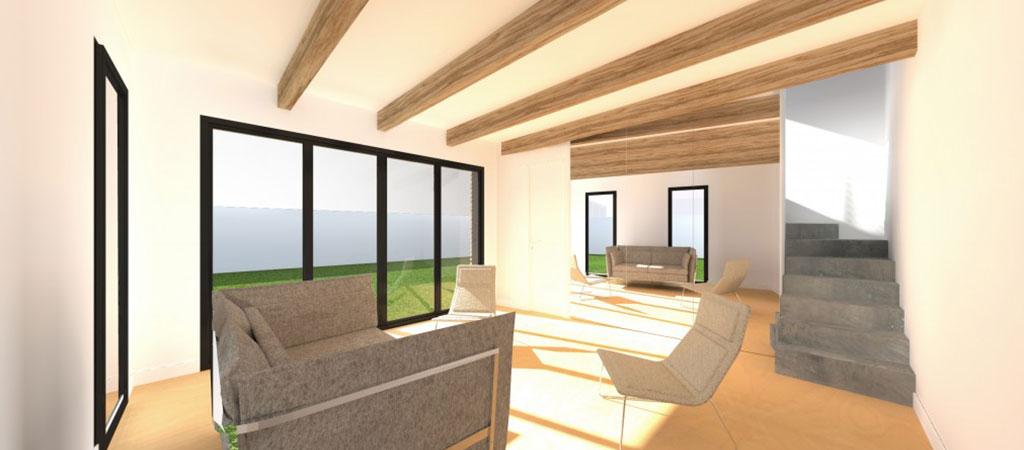 plan 3D interieur duplex