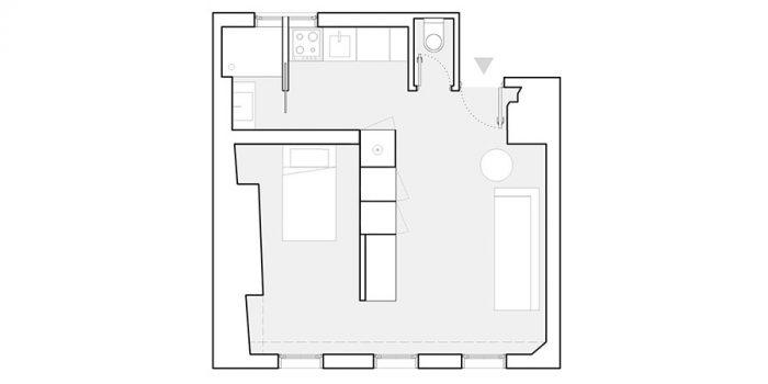 plan studio renovation architecte