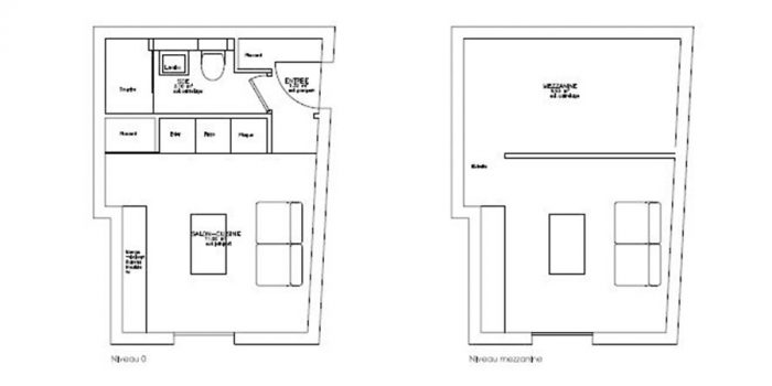 plan renovation studio jaune