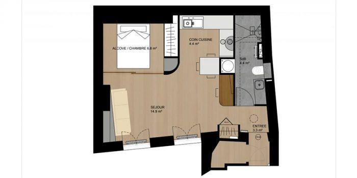 plan 3D renovation studio