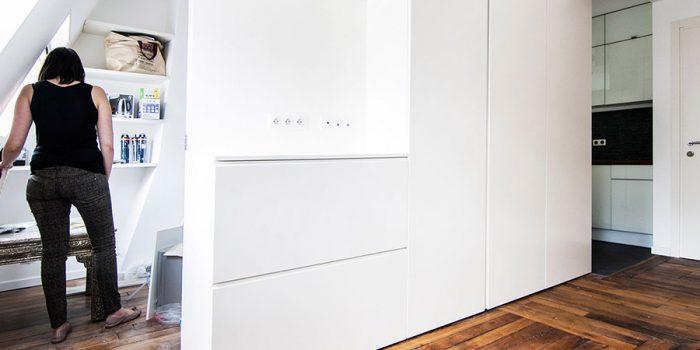 meuble blanc surmesure architecte