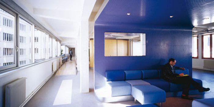 espace detente bureaux renovés