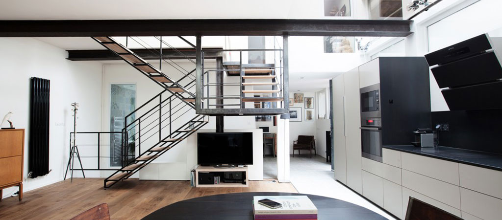 transformation loft architecte escalier