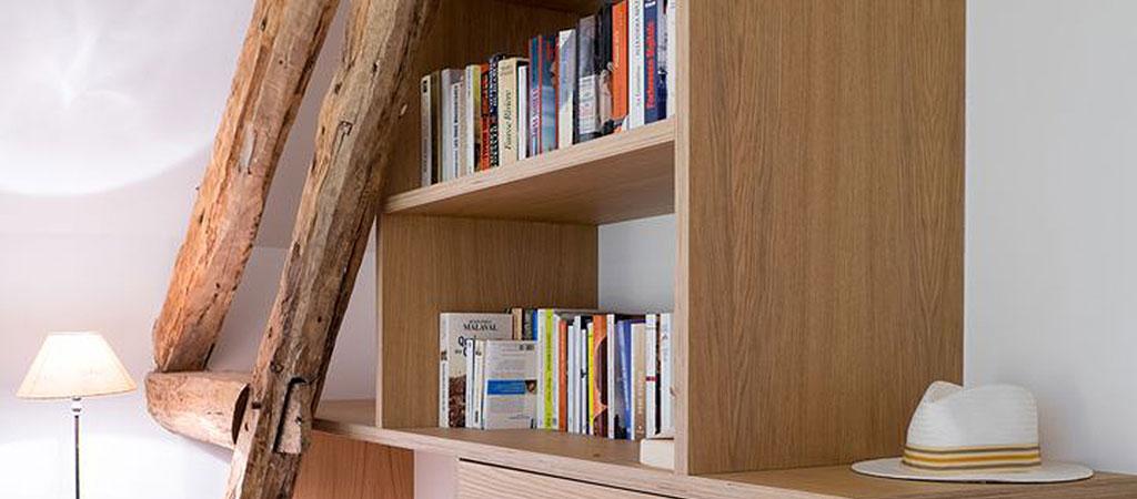 bibliothèque rangements surmesure architecte
