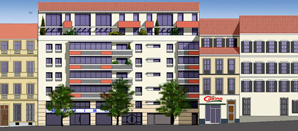projet immeuble logements architecte