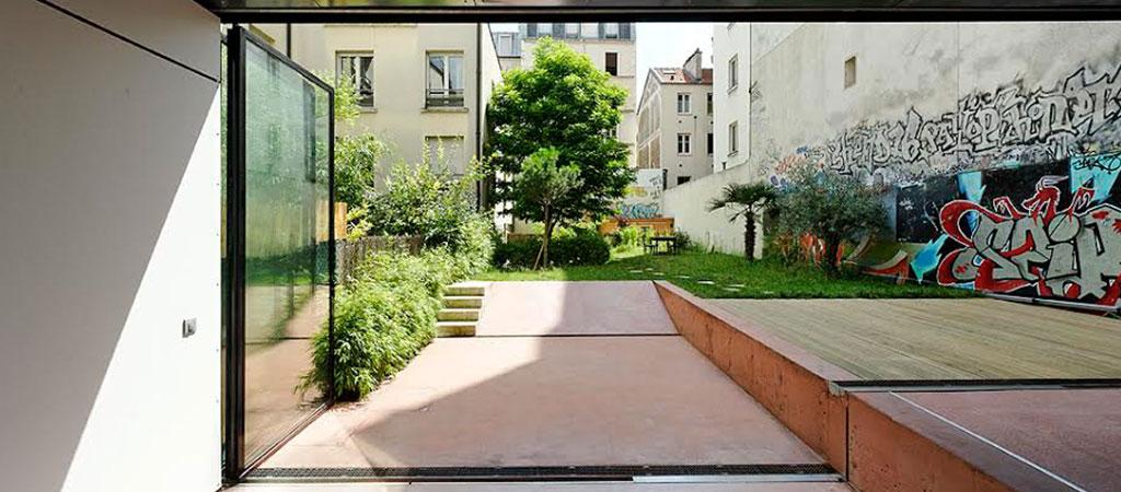 jardin maison architecte originale