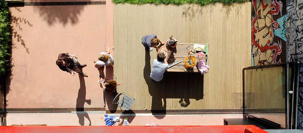 terrasse famille construction maison