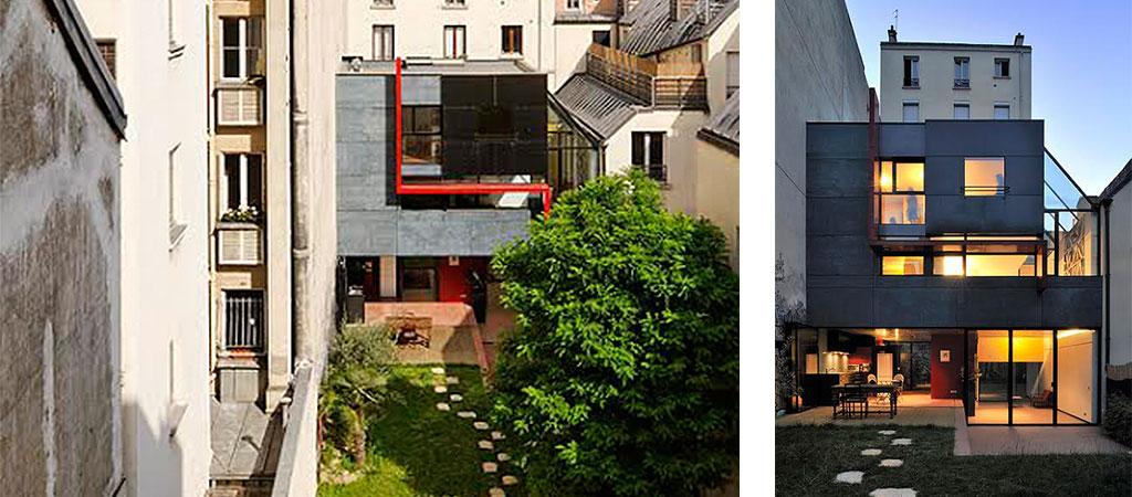 facade atypique maison architecte