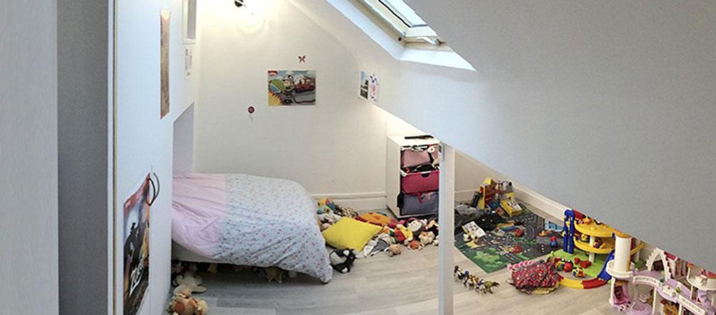chambre appartement combles architecte