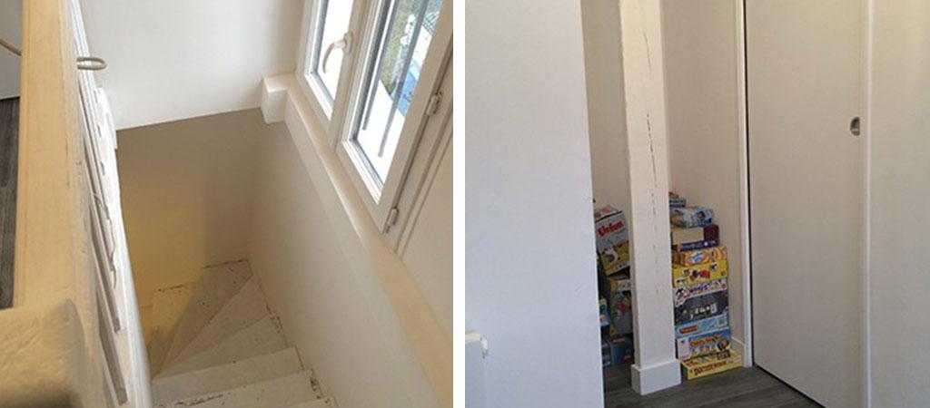 escalier combles architecture appartement