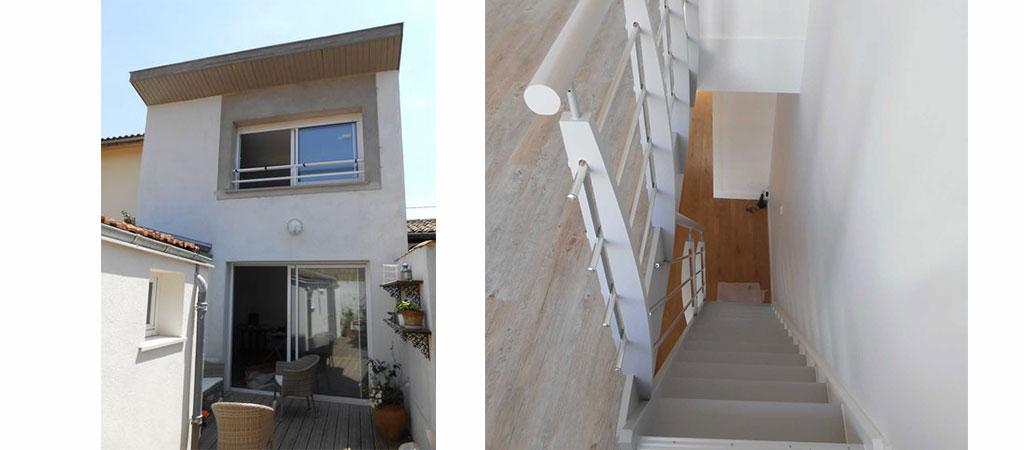 facade escalier maison combles