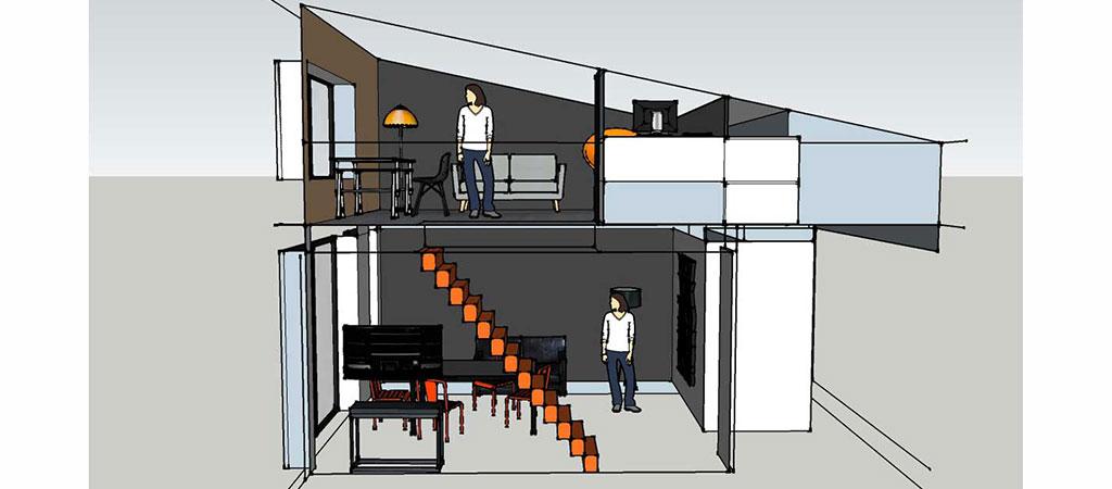 3D renovation combles maison