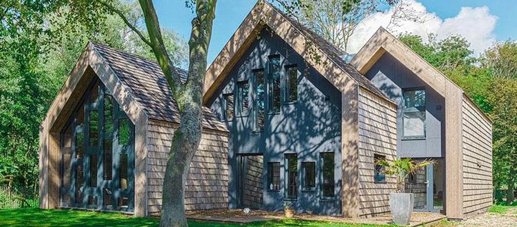 facade maison architecte bois