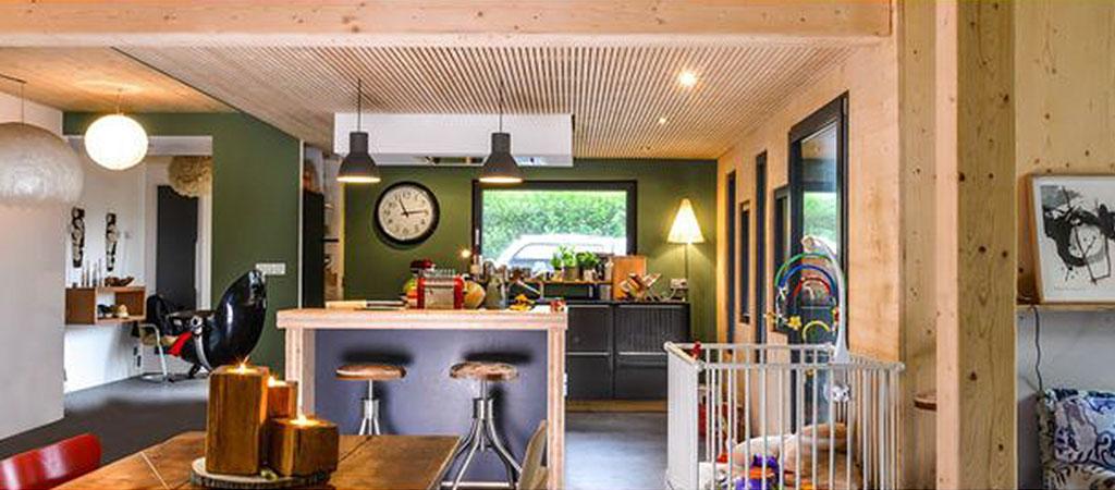 cuisine construction maison bois