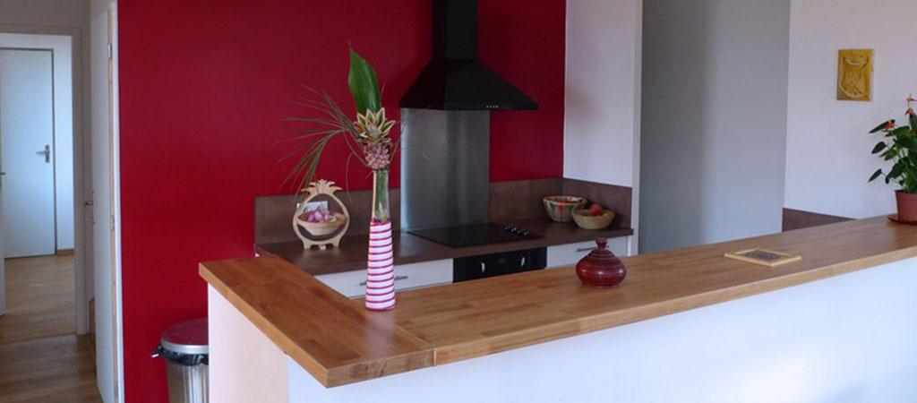 cuisine ouverte maison bois