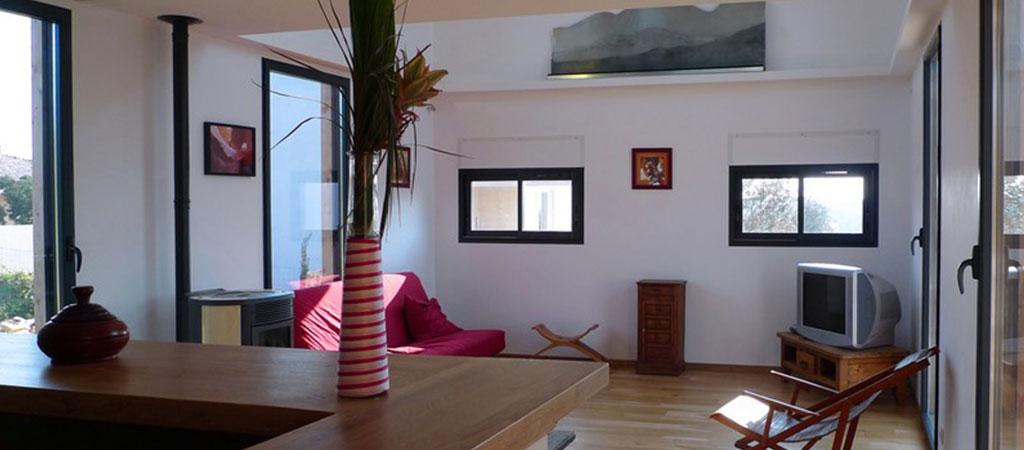 sejour maison contemporaine bois