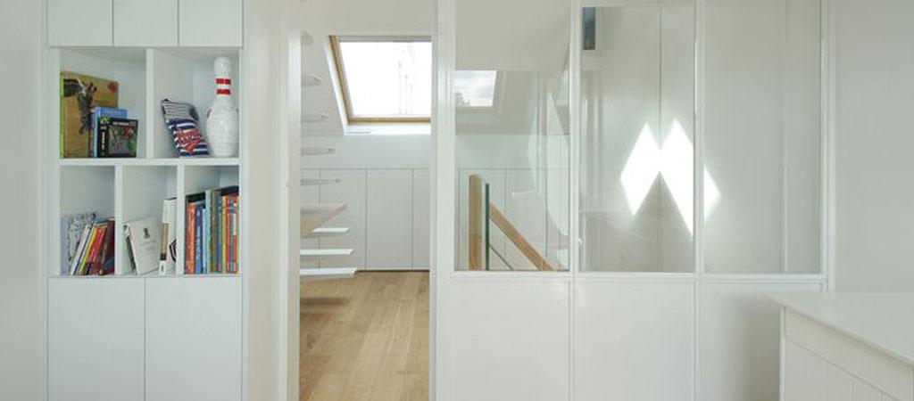 amenagement combles escalier architecte