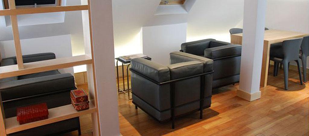 salon appartement combles architecture