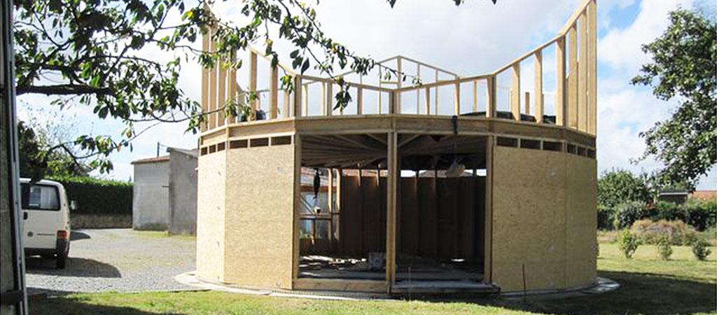 travaux construction maison bois