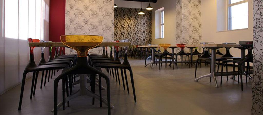 architecture restaurant entreprise coloré