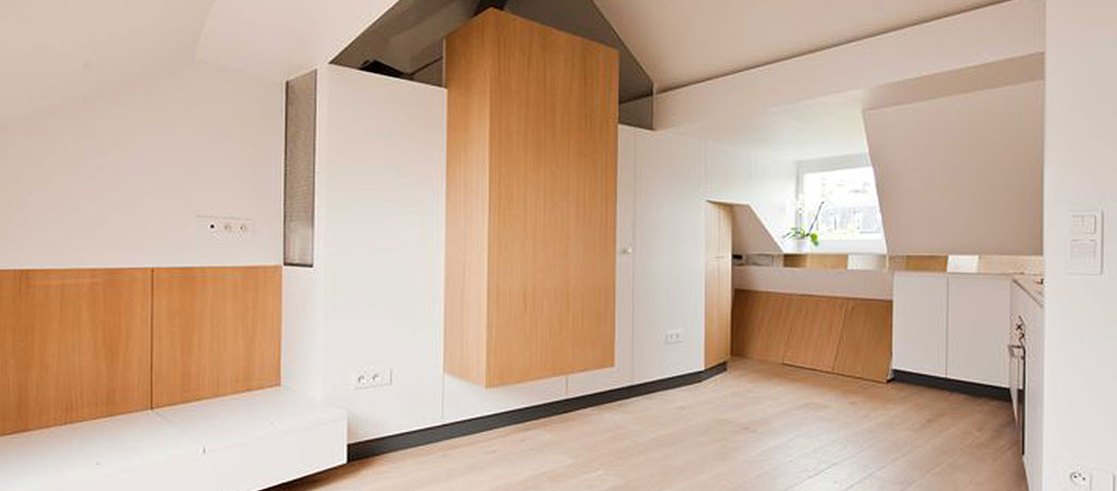 sejour appartement architecte combles