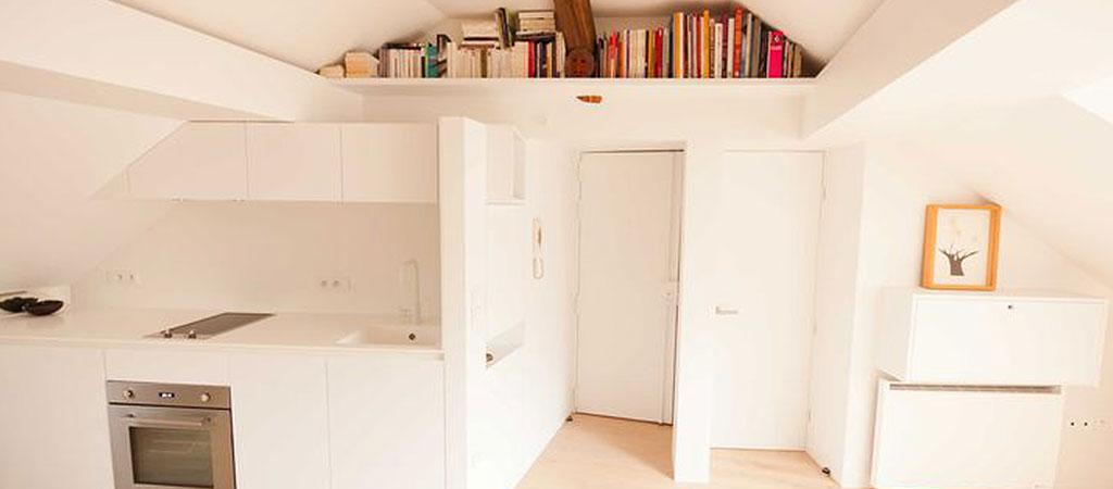 cuisine rangements appartement combles