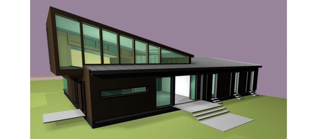 plan 3D construction bois