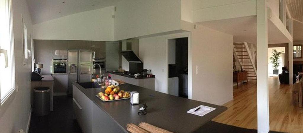 cuisine ouverte chalet architecte
