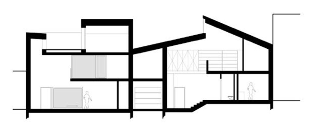 plan coupe maison architecte