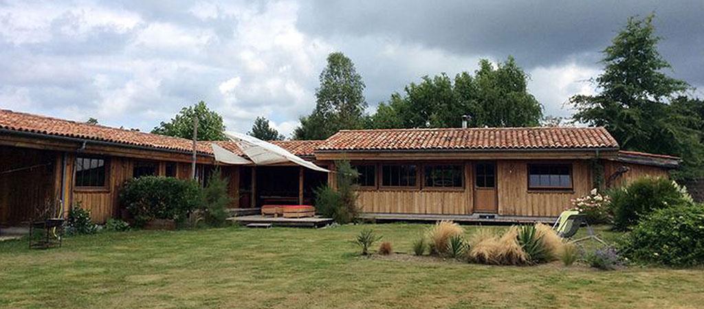 grande maison vacances bois