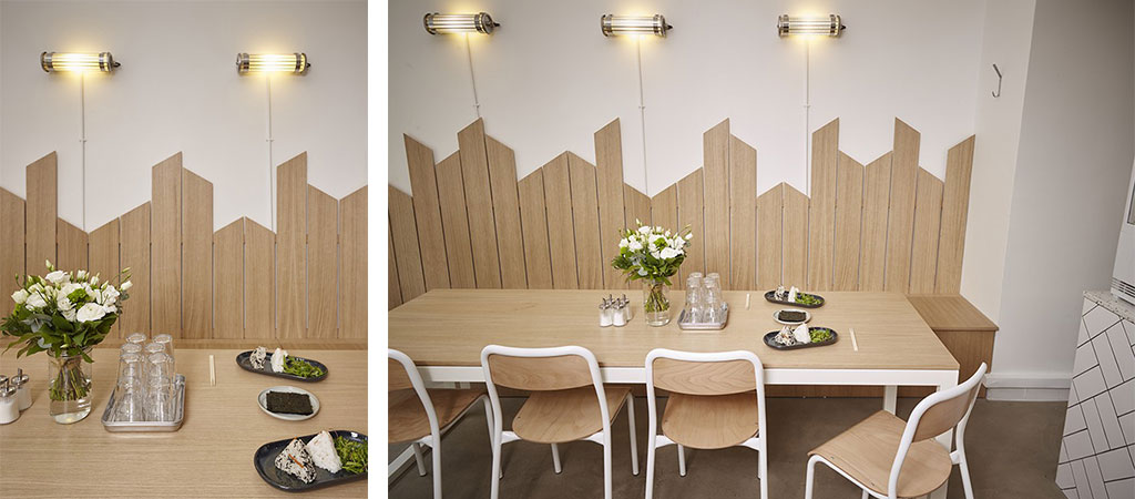 restaurant bois blanc architecte