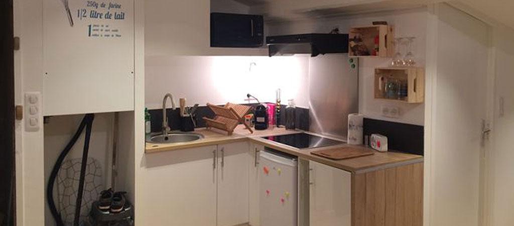 cuisine ouverte appartement combles
