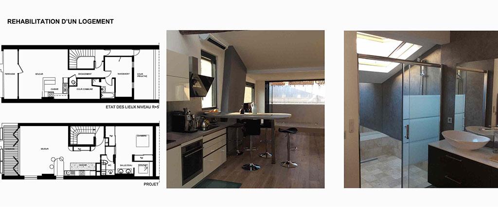 renovation appartement architecte cuisine