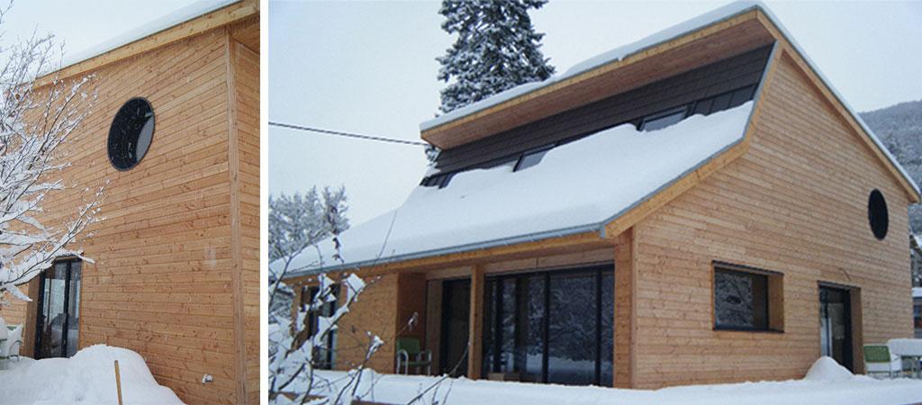 chalet ossature bois architecte
