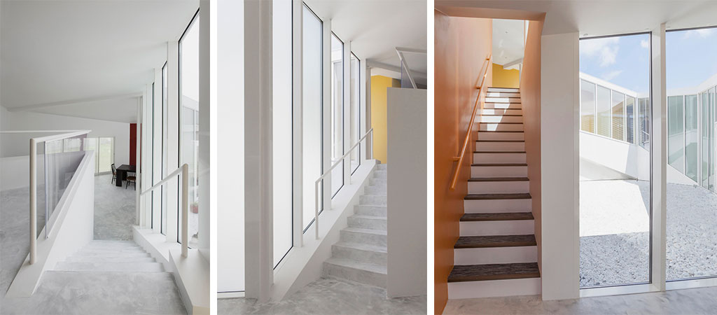couloir lumineux maison spirale