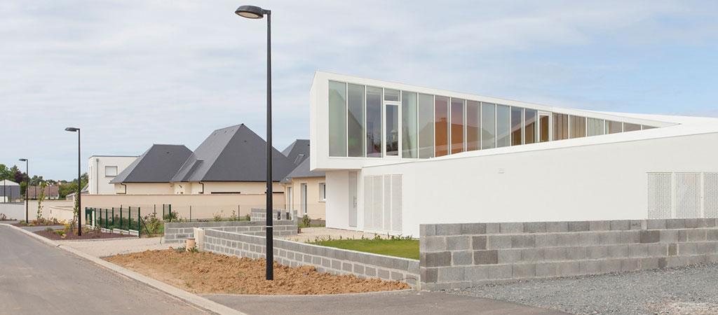 architecture maison spirale vitres