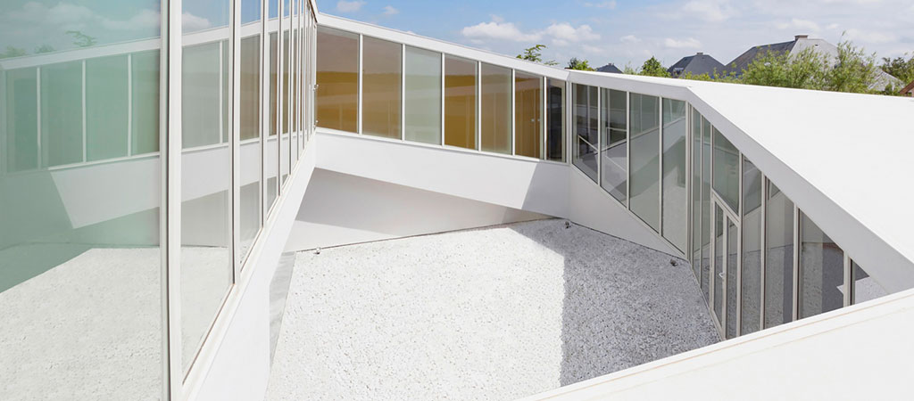 cour intérieure maison spirale