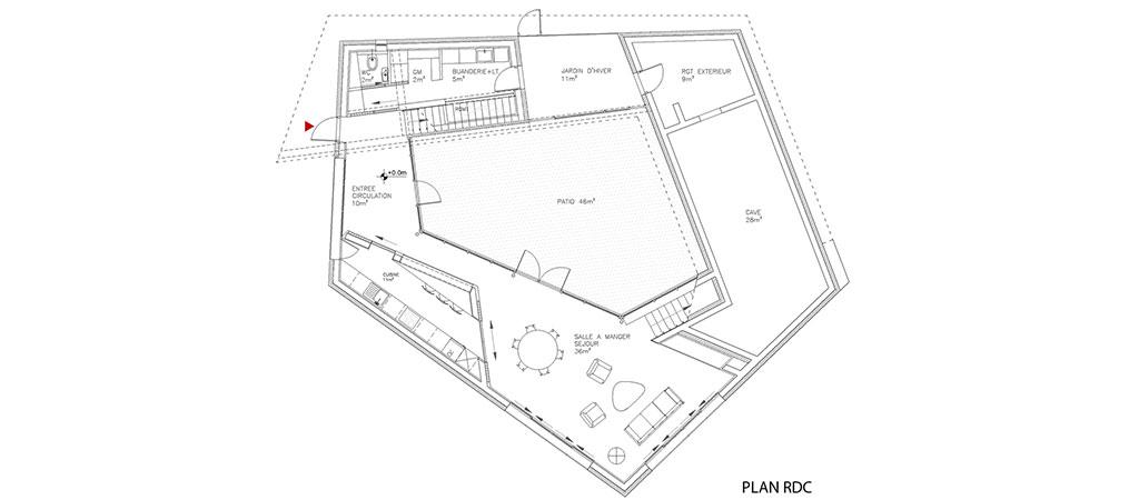 plan maison spirale architecture
