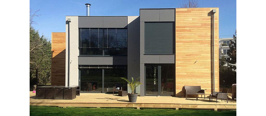 maison ossature bois noir