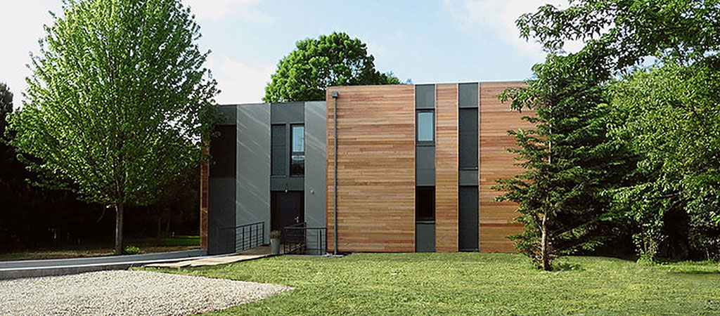 contemporain maison bois architecture