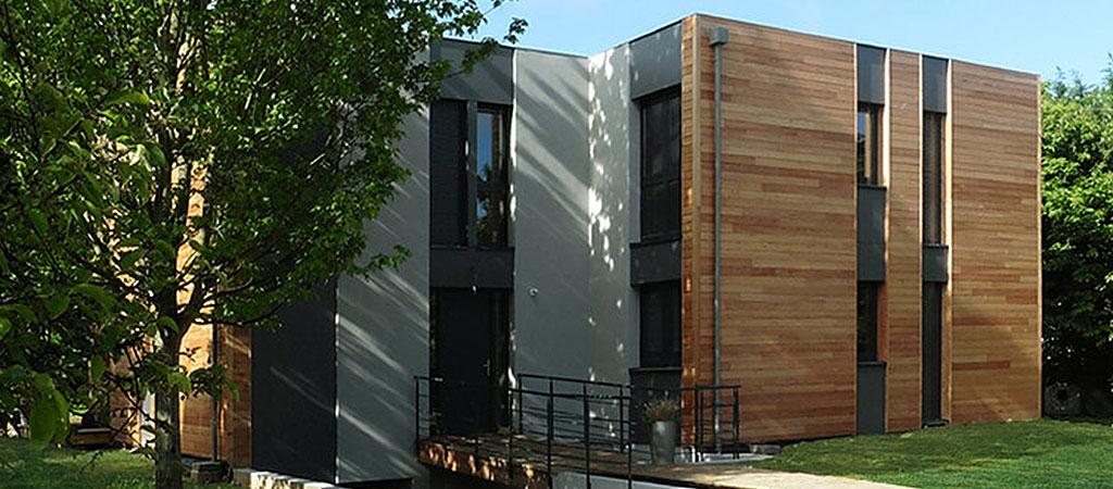 facade construction maison bois