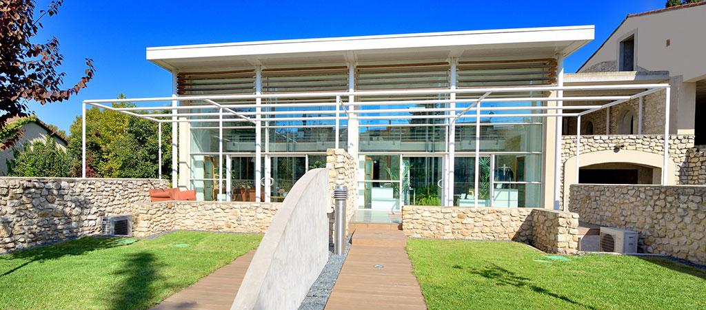 facade maison verre architecte