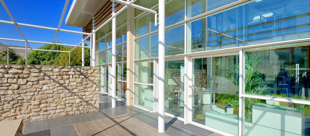 vitre facade maison architecte