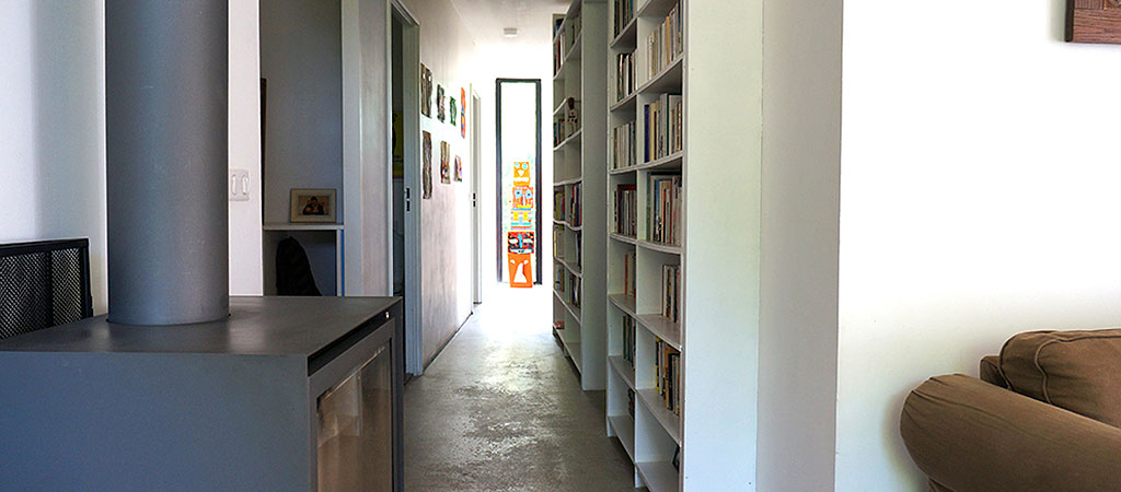 couloir maison ossature bois