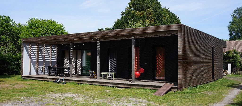 maison diagonale bois architecte