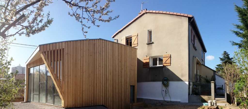 architecture extension bois maison
