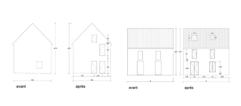 plan réhabilitation ferme maison